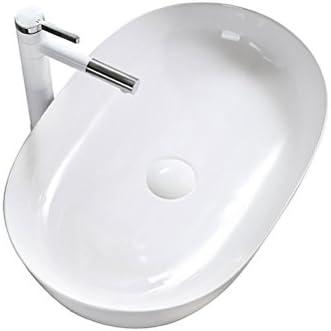 カウンター盆地芸術盆地ホームバルコニー洗面台以上の北欧スタイルのオーバル洗面浴室用セラミック P3/20