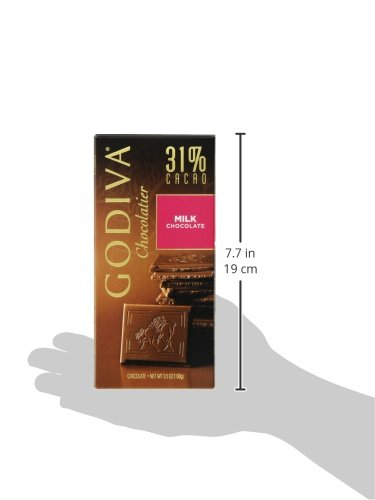 031290094141 - Godiva Milk Chocolate Bar, 3.5-Ounces (Pack of 5) carousel main 5