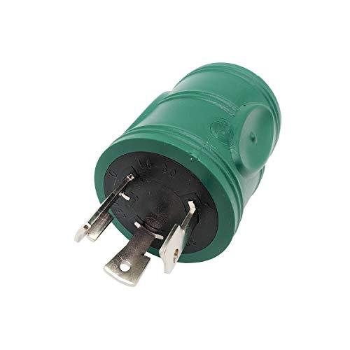 Parkworld 60707 NEMA L6-30P to L6-20R Adapter, Twist Lock L6 30A Plug to 20A Socket Adapter (Nema Plug L6 Lock 20)