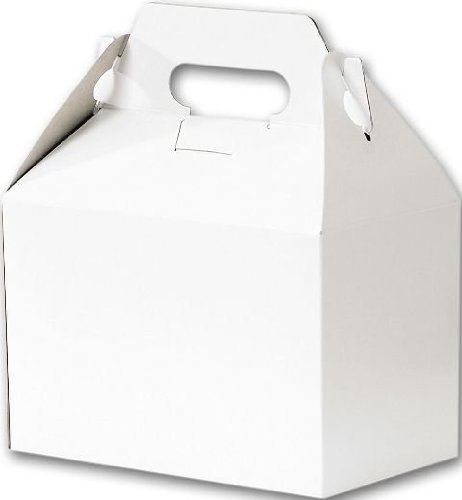Bags & Bows by Deluxe 250-080405-9 White Gable Boxes - Case of 100