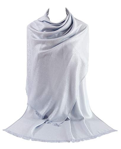 MissShorthair Women's Metallic Soft Pashmina Shawl Wrap Scarf in Solid Colors from MissShorthair