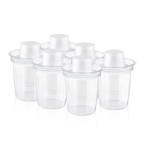 Tommee Tippee Closer to Nature Milk Powder Dispensers (6-Pack) by Tommee Tippee