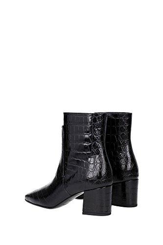 Givenchy negro bota de cuero crocodilo estampado - Número de modelo: BE09051135 001 negro