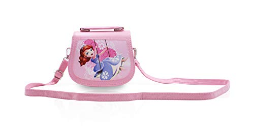 Finex Sofia the FirstPink Premium PU Leather Small Crossbody Cute Shoulder Handbag Purse Travel Toy Purse Travel Bag for Toddler Children Kids Preschoolers Baby Little Girls 4-8]()