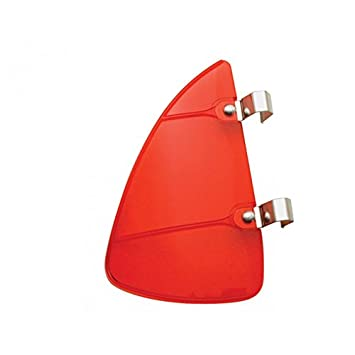 Red Accessory Vent Wing Window Air Deflector Breeze Breezies Pair