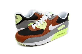 Nike Air Max 90 Hazelnut White Black Grey Green 2012 Running Shoes 325018-203