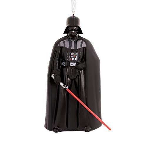 Hallmark Christmas Ornaments, Star Wars Darth Vader Holding Lightsaber Blown Glass Ornament