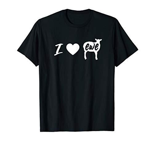 I Love Ewe - I Love You Sheep Pun Shirt ()