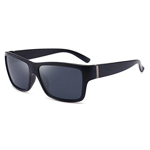 Mat Classique polarisé lunettes lunettes de bloc soleil cadre épais carré Gris Hellomiko ébdJtbAmThVtsement conduite de Noir 6dgqq