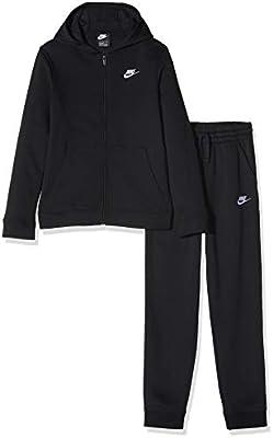 Nike B NSW Core BF TRK Suit Chándal, Niños, Negro (Black/Black/Black/White), L: Amazon.es: Deportes y aire libre