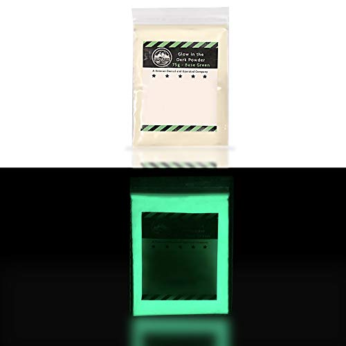 Glow in The Dark Pigment Powder for Slime - 75g Paint Slime Dye Slime Supplies Set; add Powder to Epoxy, Art Resin, Clear UV Resin Kit, Glow in The Dark Glue Nail Polish, Kids Slime Making Kit - Green
