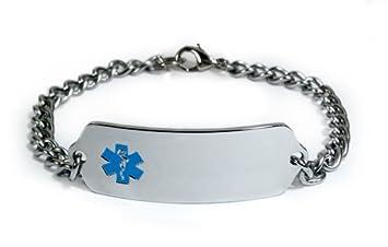 cb8fff55dfd5a MYASTHENIA GRAVIS Medical ID Alert Bracelet with Embossed emblem from  stainless steel....