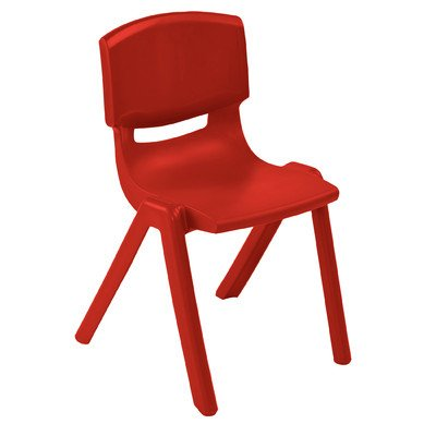 Resin Classroom Stacking Chair  Seat Color: Red, Seat Height