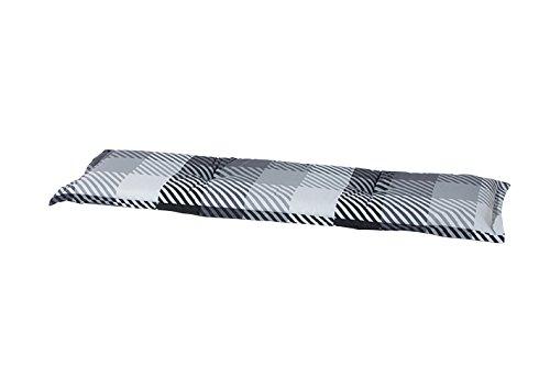 8-cm-Luxus-3-Sitzer-Bankauflage-C-326-ca-150x48x8-cm-grau-anthrazit-schwarz-kariert