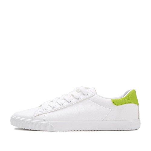 Atlética bajo de las color mujeres NSX con de patín las plano fondo green 37 sólido cordones zapatillas de deporte de de tacón Casual qSvqw5X6x