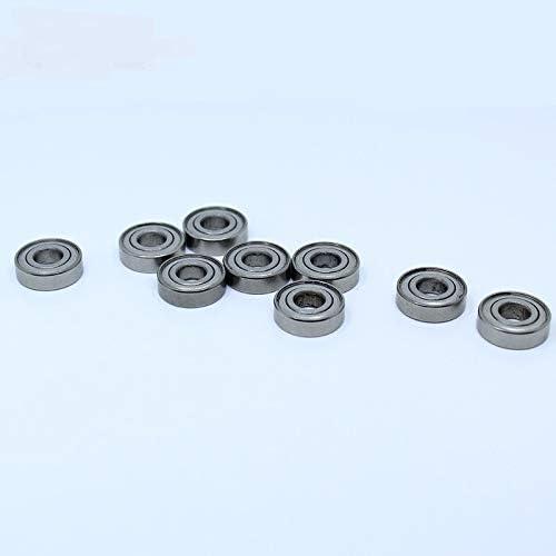10PCS ABEC-1 440C Roller Stainless Steel S697Z S697 Z ZZ Ball Bearings 7175 mm JINLI-CASE Durable S697ZZ Miniature Deep Groove Ball Bearing