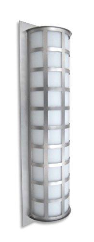(Besa Lighting Scala 28 -WA Scala 28 - Three Light Outdoor Wall Sconce, White Acrylic Glass )