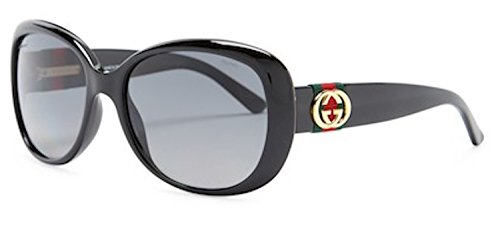 Gucci Sunglasses - 3644 / Frame: Shiny Black Lens: Gray gradient - 135 Sunglasses Gucci