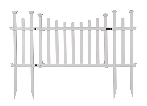 Zippity Outdoor Products ZP19028 Unassembled Madison Vinyl Gate Kit with Fence Wings, White by Zippity Outdoor Products (Image #9)