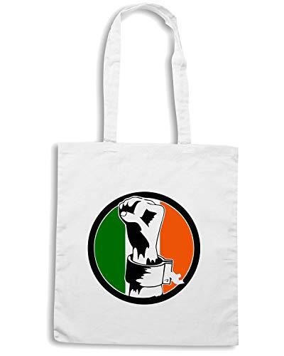 IRISH FREEDOM Shopper Bianca Shirt TIR0099 Speed Borsa gf11qU
