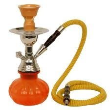 "Zebra Smoke Starter Series: 11"" 1 Hose Taj Mahal Pumpkin Hookah Combo Kit Set w/ Instant Charcoal (Like Three Kings Charcoal), Hydro Herbal Molasses(like Blue Mist), and Hookah Mouth Tips Smokes More Then Hookah Pen (Orange)"