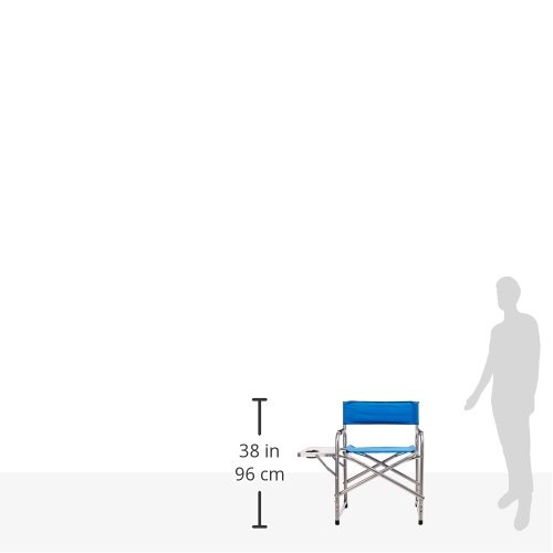 Home 15157 Texsport Steel Directors Chair with Side Table and Drink Holder StealStreet