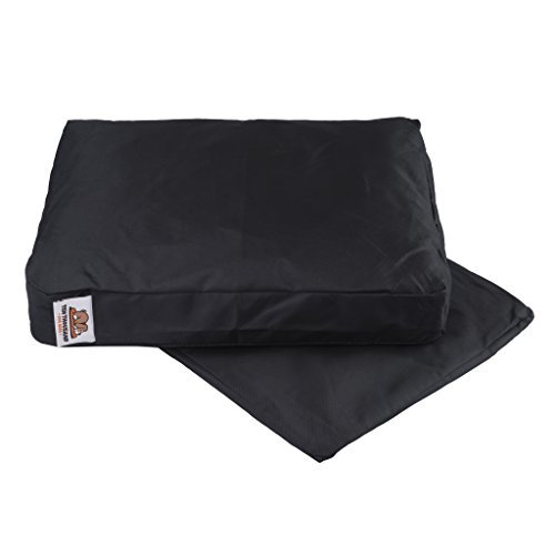 Removeable and Washable Small Dog Bed Cover - Durable Black - 24