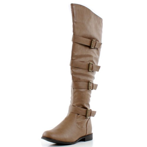 4a0dfce5cf69d West Blvd Womens TEHRAN Thigh HIGH Boots Over The Knee Motorcycle ...