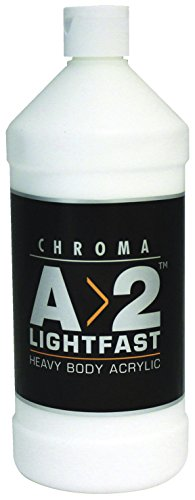 Chroma A>2 Lightfast Heavy Body Acrylic Paint, 1 L Bottle, T