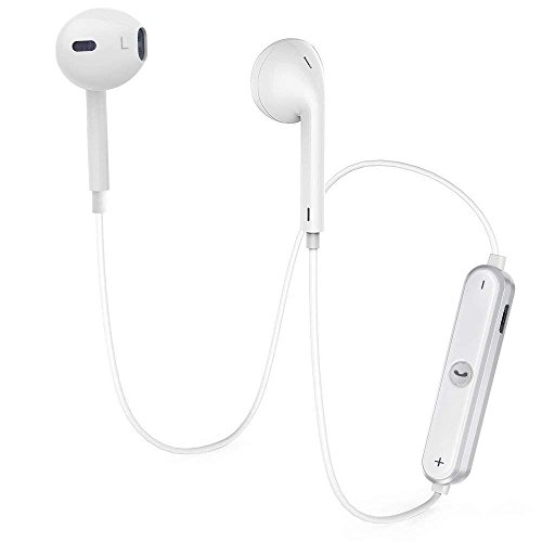 Bluetooth Headphones, Wireless Earbuds Stereo hands-free calling Earphones Sport Driving Headsets - White01 by GASSLY