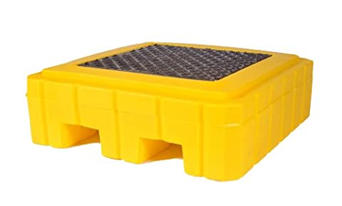 UltraTech 9607 Premier Polyethylene Ultra-Spill Pallet P1 Plus with Drain, 800 lbs Capacity, 5 Year Warranty, - 55 Gallon Drum Spill Containment