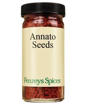 Annatto Seeds By Penzeys Spices 2.8 oz 1/2 cup jar