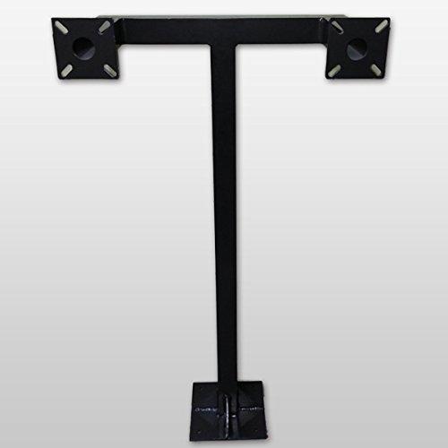 GooseNeck Keypad Stand Intercom Holder Gooseneck Stand Pad Mount Aluminum Keypad Double Key 9 Color - Aluminum Ornamental Gates