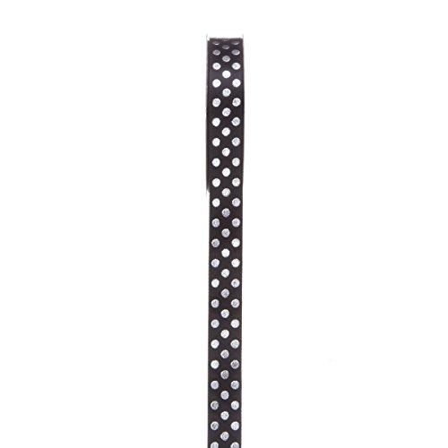 Darice Silver Ribbon - Darice Dot Ribbon, 5/8