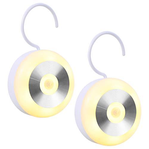 Luz Nocturna Infantil LED con sensor de movimiento, Luz recargable con un gancho y Almohadillas Adhesivas 3M, Lámpara de…