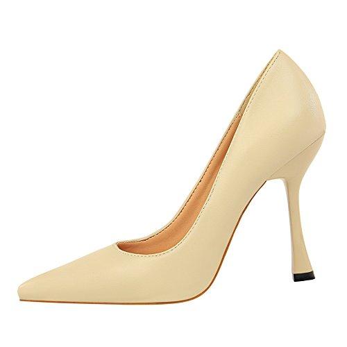 Puntiagudo Solo Sandalias Superficial Profesional M Zapatos Xue Boda Nupcial Fina Zapatos de Tribunal Baile Zapatos Zapatos Chica Labor Zapatos Zapatos de de Qiqi blanco Boca Rojos Tacón qtgwv
