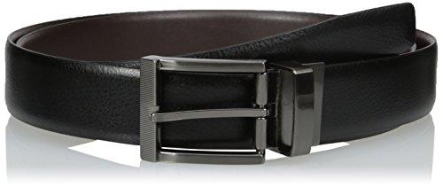 Van Heusen Men's Big-tall Men's Big and Tall Non Stitch Leather Reversible Belt, black/Brown, 52