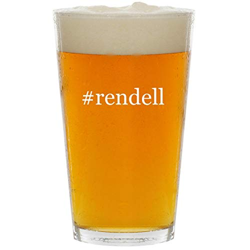 #rendell - Glass Hashtag 16oz Beer Pint ()