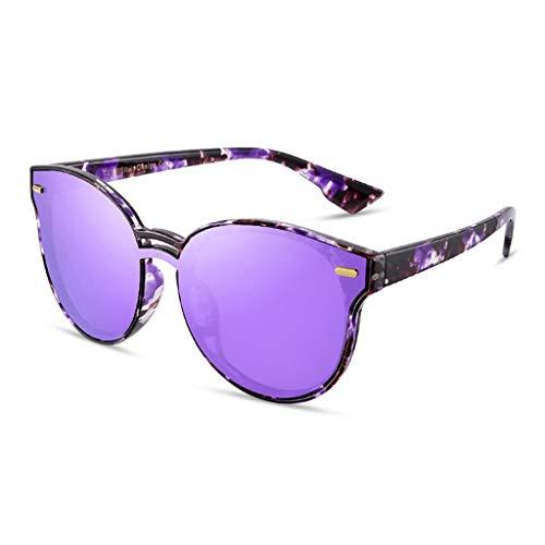 Sport Femme Lunettes Des Frame New lunettes Conduite de Soleil polarisées de Couleur D soleil Miroir Retro Personality de E Large qwXtI4XrK