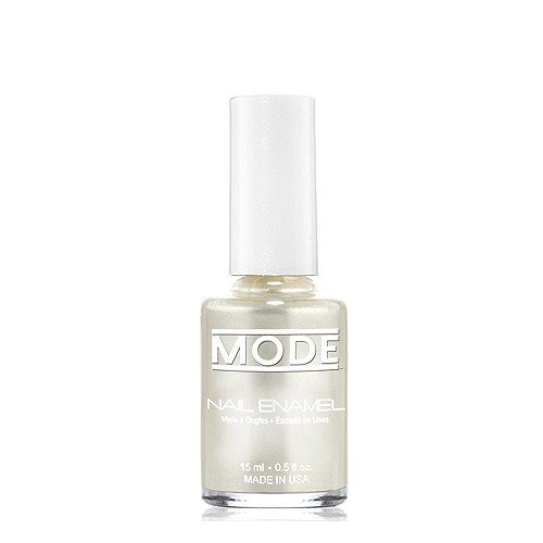 MODE Cosmetics Nail Enamel (Luxurious Snow White Pure Frost Pearl - Shade #163) .50 FL OZ. - Long Wear, High Gloss, Chip Resistant, Cruelty-Free, Vegan, Salon Nail Polish - Made in Beautiful NY USA