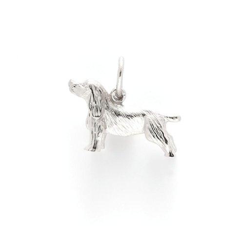 Springer Spaniel Charm In Sterling Silver, Charms for Bracelets and - Springer Spaniel Charm