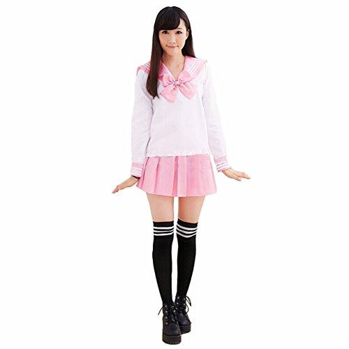 [Aoibox Women's School Uniform Sailor Dress Sailor Suit Cosplay Costume] (Sailor Moon Adult Womens Costumes)
