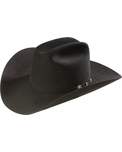 Stetson Men's 100X El Presidente Fur Felt Western Hat Black 7 Fur Western Hat