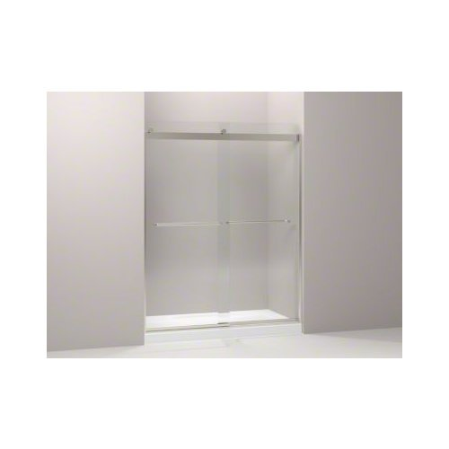 KOHLER K-706015-L-MX Levity  Bypass Shower Door with Towel Bar and 1/4-Inch  Crystal Clear Glass in Matte Nickel (Kohler Glass Shower Door compare prices)