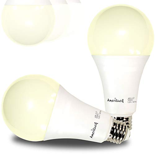 AmeriLuck 50/100/150W Equivalent 3-Way LED Light Bulb A21 2700K Soft White Omni-Directional UL Listed (2 Pack)