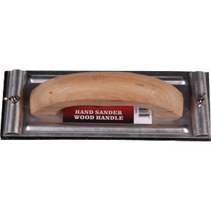 Merit Pro 00805 Hand Sander Aluminum Base Wood Handle - 6ct. Case