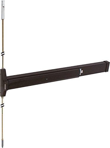 Slimline Concealed Vertical Rod Panic Exit Device in Bronze Finish, for 36 inch wide door. Durable commercial & residential, door hardware, door handles, locks