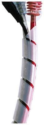 Tecline 690660 Spiral-Kabelschlauch transparent
