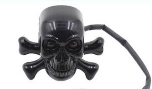 Price comparison product image BatterElec(TM) 2X New Universal Motorcycle Black Skull Brake Turn Signals Indicator Tail Light