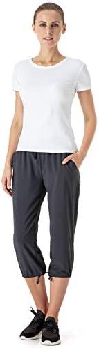 NAVISKIN Pantalones Casuales Protección UPF 50+ para Mujer Capri Pants Deportivos Pantalón Pirata Atlético Fitness Correr Térmico Chándal Deporte Yoga Running Entrenamiento 6